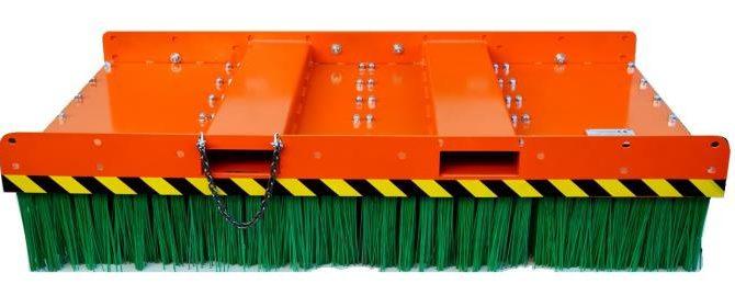 Spazzola industriale con setole verdi